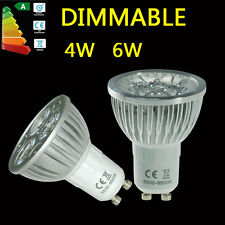 GU10 4W 6W Led Bulbs Dimmable Spot Light Day Warm White Energy Saving Lamp UK