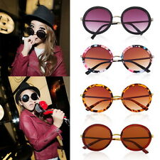 Unisex Women Fashion Retro Vintage Style Sunglasses Glasses Round Metal Frame KE