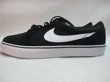Mens Nike SB Satire II Black White Lace Up Suede Trainers