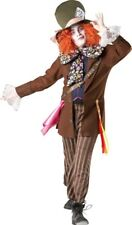 Mad Hatter Costume Licensed Alice in Wonderland Mens Fancy Dress Party Outfit