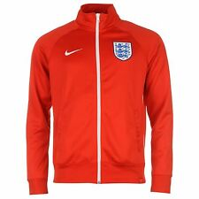 Nike England Core Jacket Mens Red/White Football Soccer Track Top