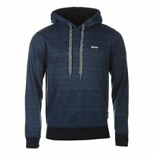 Lee Cooper Textured Pullover Hoody Mens Navy Marl Hooded Sweatshirt Sweater