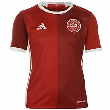 Adidas Denmark Home Jersey 2016 Juniors Red/White Football Soccer Top Shirt