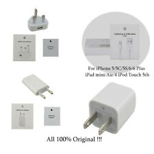 Genuine 5W USB Power Adapter+Lightning Cable for Apple iPhone 5S SE 5C 6 6S Plus