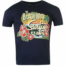 Official Beach Boys Surfin USA T-Shirt Mens Navy Tee Shirt Top