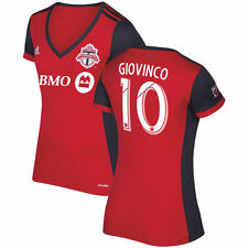 adidas  Toronto FC MLS 2017 Womens Giovinco # 17 Soccer HomeJersey Red / Gray