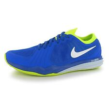 Nike Dual Fusion Running Shoes Womens Blue/White/Volt Fitness Trainers Sneakers