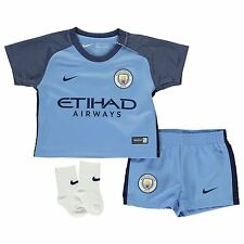 Nike Manchester City FC Home Kit 2016 2017 Infants Football Soccer Jersey Shorts