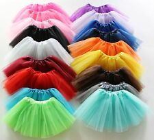 Classic 5 Layered Tulle Tutu Cheerleader Skirt Costume Girl's Kids Ballet Dress