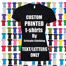 Custom Printed Personalised T-Shirts HEN CHARITY RUN PROMO SLOGANS 29 Colours
