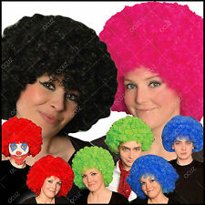 Mens Womens Ladies Afro Many Colours Wig Funky Unisex Curly Dance Fancy Dress »