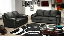 new malezja faux leather 3 & 2 seater sofa in black or brown, quality & cheap!