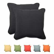 Outdoor Square Throw Pillows Sunbrella Fabric Patio & Garden Decorative Cushions
