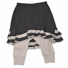 Paper Wings Leggings with Skirt Yarn Dyed Stripe Brand New Charcoal, Size 3 & 4