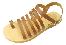 Ancient Greek Style Roman Leather Handmade Sandals Shoes Womens Flip Flops Size