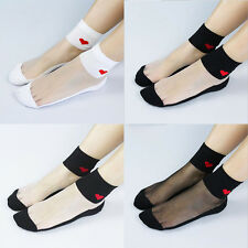 Fashion New Ultra-Thin Love Cotton Bottom Socks Short Section Of Glass Stockings