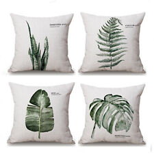 Vintage Leaves  Cotton Linen Throw Pillow Case Sofa Cushion Cover Home Decor 18""
