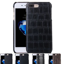 Premium Luxury Leather Back Protective Cover Snap on Case For Iphone 6S 7 Plus