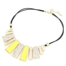 New Fashion Necklaces & Pendants PU Leather Rope Geometric Choker for Women