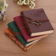 Vintage Retro Classic Leather String Bound Blank Pages Diary Journal Notebook
