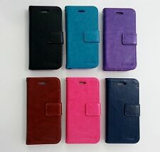 iPhone 5 6 7 Plus Protective PU Leather Flip Wallet Case ID Card Slots Pocket