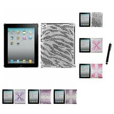 For Apple iPad 2 Diamond Diamante Bling Rhinestone Case Cover Stylus Pen