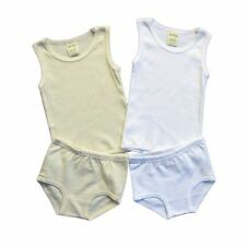 BABY TANK & NAPPY COVER SET 100% ORGANIC COTTON NATURAL BABY UNDERWEAR