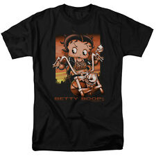 Betty Boop SUNSET RIDER on Motorcycle Bike Licensed Adult T-Shirt All Sizes