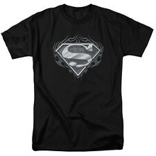 Superman BIKER METAL Licensed Adult T-Shirt All Sizes