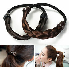 Fashion Women Braid Wig Elastic Hair Band Rope Scrunchie Girl Ponytail Holder