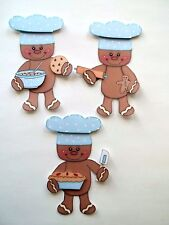 3D-U Pick - CB3 Cooking Baking Gingers Christmas Scrapbook Card Embellishment