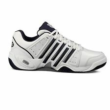 K Swiss Accomplish II LTR Tennis Shoes Mens Wht/Nvy/Silv Sport Trainers Sneakers