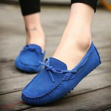 Mens Faux suede Driving Moccasins Boat toe Slip on Loafers Casual Shoes