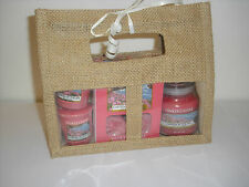 Yankee Candle Jute Bag Gift Set in GARDEN BY THE SEA