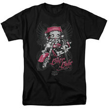 Betty Boop BIKER BABE Angel Wings Licensed Adult T-Shirt All Sizes