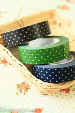 Classiky Polka Dots Washi tape dark colours masking paper deco planner crafting