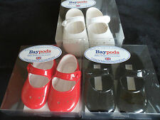 Baby Girls Special Occasion Baypods Soft Pram Shoes-Punched Hole Detailing,