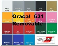 "5-10-20-40 rolls 12"" Oracal 631 Matte Colors Adhesive Backed Vinyl Sign Craft"