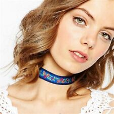 Collar Multicolor Jewelry Bohemian Choker Embroidery Ethnic Necklace
