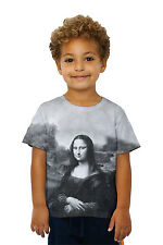 "Yizzam- Pop Art - ""Da Vinci Mona Lisa Black White"" (1517) - New Kids Childrens"