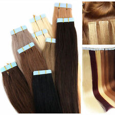 16-24 inches 8A Remy Human Hair Extensions Weave Seamless Tape In Skin Weft hair