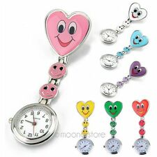 New Cute Pendant Smile Face Nurse Clip-on Brooch Quartz Hanging Pocket Watch
