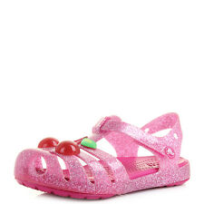 Girls Kids Crocs Isabella Vibrant Pink Novelty Sandals Shu Size