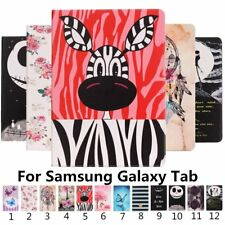 Colorful Pattern Card Wallet PU Leather Stand Cover Case For Samsung Galaxy Tab