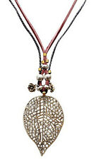 Lovely Fashion Leather Cord Necklace fo Embellished with Beads FREE Velvet Bag