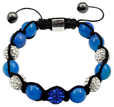 Shamballa Ball Bracelet with CZ Crystal Ball and Glass Stone Beads - FREE V.Bag