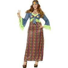 Curves Hippie Lady Costume 1960s Groovy Fancy Dress Costumes