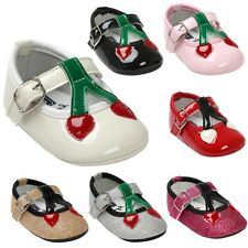 Toddler Baby Girl Soft Sole Crib Shoes Kid PU Leather Princess Shoes 0-18 Months