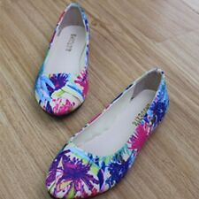 Women Floral Ballerina Ballet Dolly Flats Loafers Slip-on Pumps Mary Jane Shoes