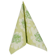 50 Napkins Royal Collection ADELE Green Floral 40x40cm Linen Feel Airlaid